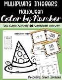 Multiplying Integers HALLOWEEN Color by Number