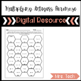 Multiplying Integers Hexamaze Activity Digital Resource