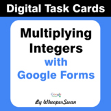 Multiplying Integers - Interactive Digital Task Cards - Go