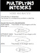 Multiplying Integers Bundle