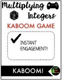 Multiplying Integers KABOOM! Game