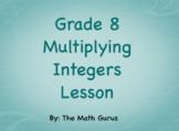 Multiplying Integers Lesson