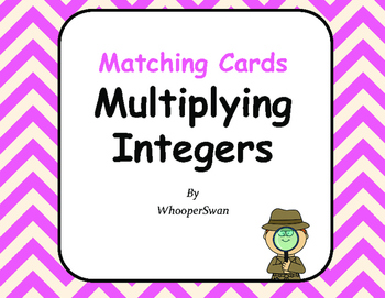 Multiplying Integers Matching Cards