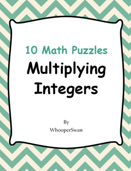 Multiplying Integers Puzzles