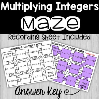 Multiplying Integers Maze