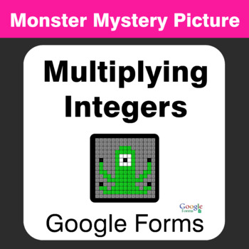 Multiplying Integers - Monster Mystery Picture - Google Forms