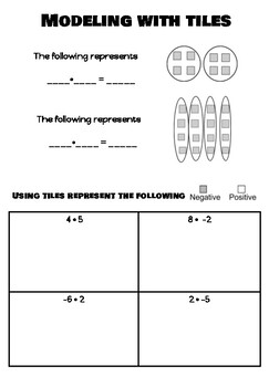 Multiplying Integers Notes