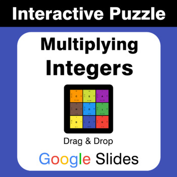 Multiplying Integers - Puzzles with GOOGLE Slides