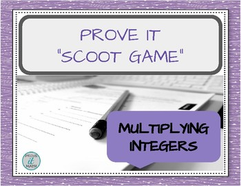 Multiplying Integers Scoot Game