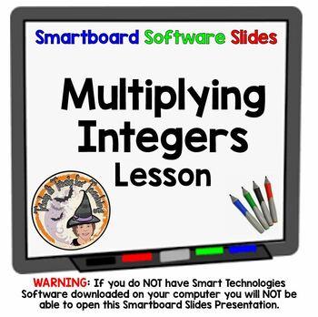 Multiplying Integers Multiply Positives Negatives Integers Smartboard Lesson
