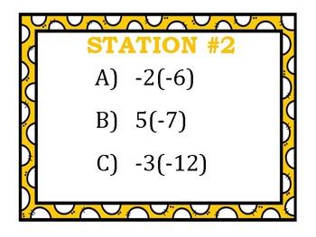 Multiplying Integers Stations