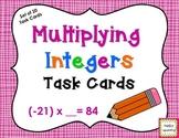 Multiplying Integers Task Cards