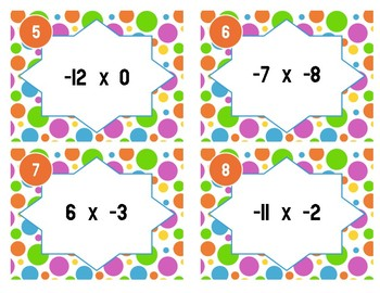 Multiplying Integers Task Cards - 7.NS.2