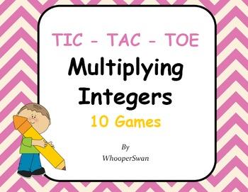 Multiplying Integers Tic-Tac-Toe