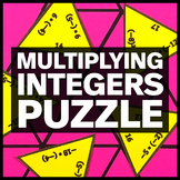 Multiplying Integers Triangle Puzzle