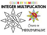 Multiplying Integers Worksheet - Color by Numbers