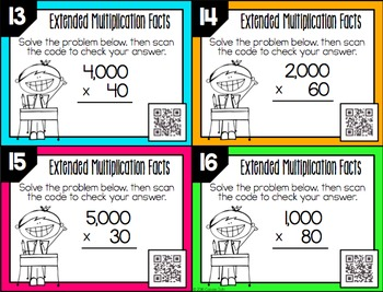 Extended Facts Task Cards
