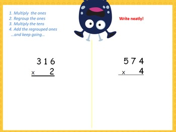 Multiplying Larger Numbers by One Digit Numbers- 4.NBT.5a