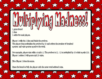Multiplying Madness- Products Times 10 TEKS 4.4b
