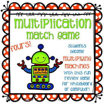 Multiplying Match Game - Fours