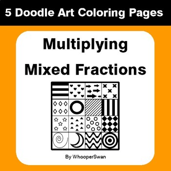 Multiplying Mixed Fractions - Coloring Pages | Doodle Art Math