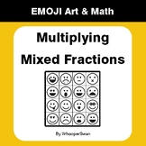 Multiplying Mixed Fractions - Emoji Art & Math - Draw by Number | Coloring Pages