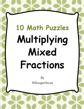 Multiplying Mixed Fractions Puzzles