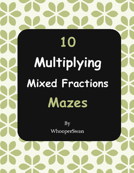 Multiplying Mixed Fractions Maze