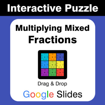 Multiplying Mixed Fractions - Puzzles with GOOGLE Slides