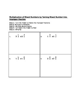 Multiplying Mixed Numbers 2 Ways (Decomposition Model and Improper Fractions)