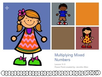 Multiplying Mixed Numbers (5th Grade EnVision Math Power Point)
