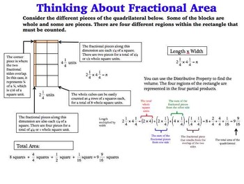 Multiplying Mixed Numbers Area Model Task Cards Fractional Dimensions SET B