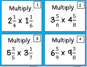 Multiplying Mixed Numbers BUNDLE