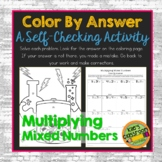 Multiplying Mixed Numbers  Color By Answer Worksheet