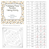 Multiplying Mixed Numbers Coloring Activity