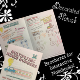 Multiplying Mixed Numbers - Decorated Notes Brochure for Interactive Notebooks