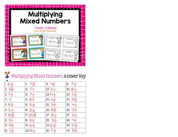 Fraction Task Cards Multiplying Mixed Numbers