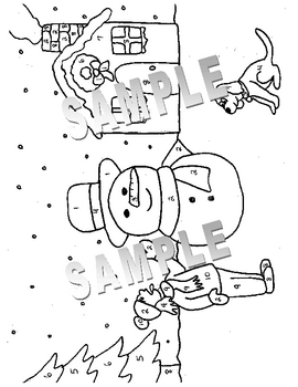 winter coloring pages math fractions - photo#2