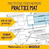 Multiplying Mixed Numbers Mat