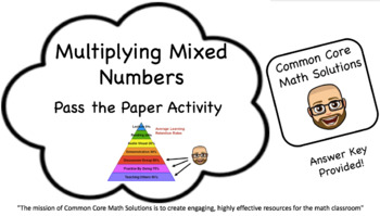 Multiplying Mixed Numbers – Pass the Paper (Cooperative Le