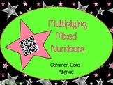 Multiplying Mixed Numbers QR Codes