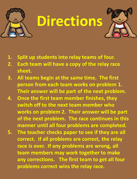 Multiplying Mixed Numbers Relay Race