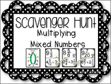 Multiplying Mixed Numbers - Scavenger Hunt