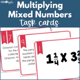 Multiplying Mixed Numbers Task Cards & Scoot