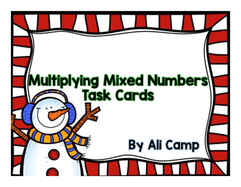 Multiplying Mixed Numbers Task Cards