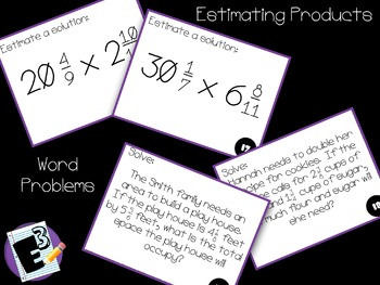 Multiplying Mixed Numbers - Task Cards