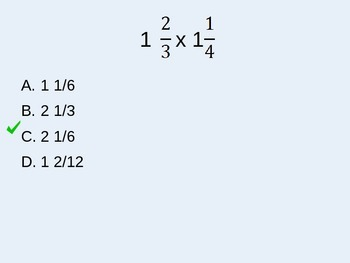 Multiplying Mixed Numbers TurningPoint Clicker Presentation