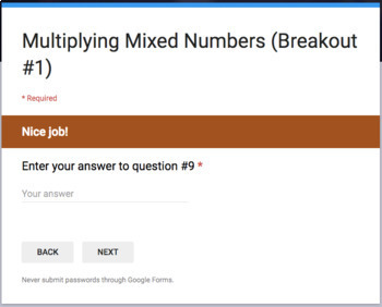Multiplying Mixed Numbers – Two Breakout Activities!
