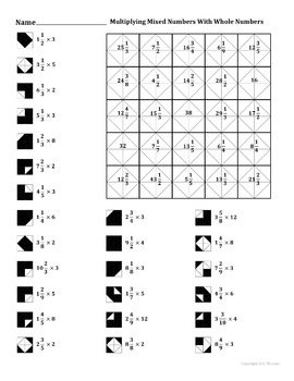 Multiplying Mixed Numbers With Whole Numbers #2
