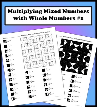 Multiplying Mixed Numbers With Whole Numbers #1
